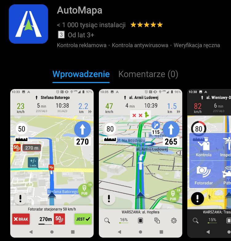 Automapa Dolaczyla Do Yanosika I Naviexperta W Huawei Appgallery