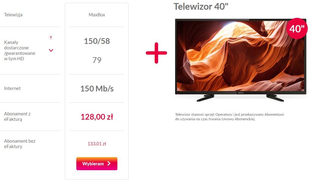Multimedia pakiet z telewizorem - zrzut ekranu