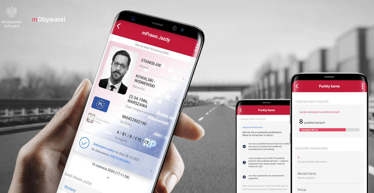 Od 5 grudnia prawo jazdy w aplikacji.