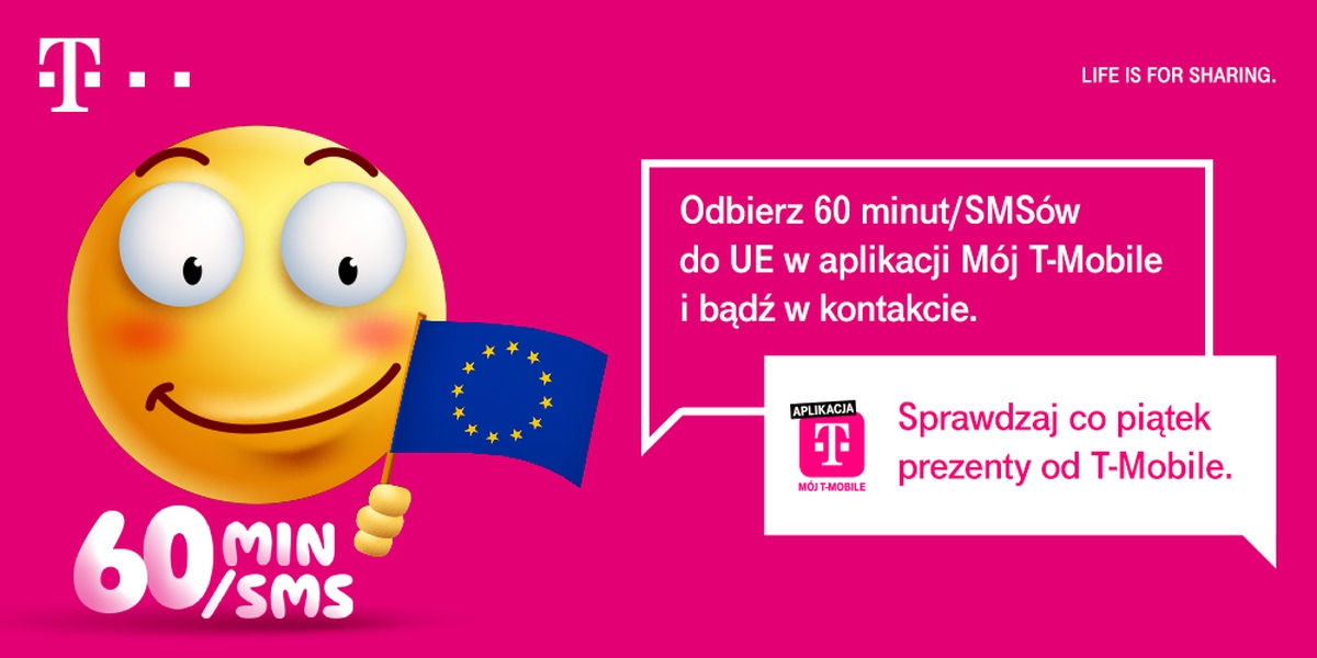 T-Mobile Happy Fridays 60 minut za darmo