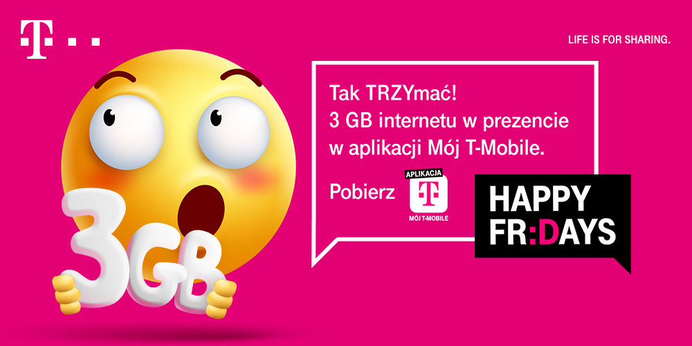 3 GB za darmo w T-Mobile happy Fridays