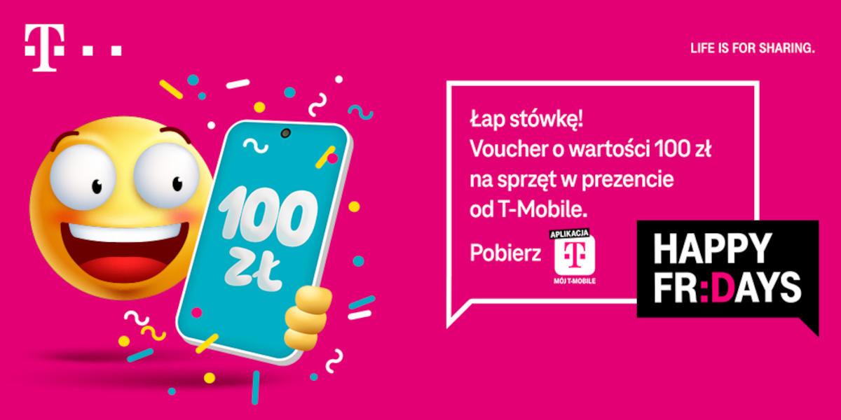 Happy Fridays w T-Mobile: odbierz voucher 100 zł na telefony w abonamencie