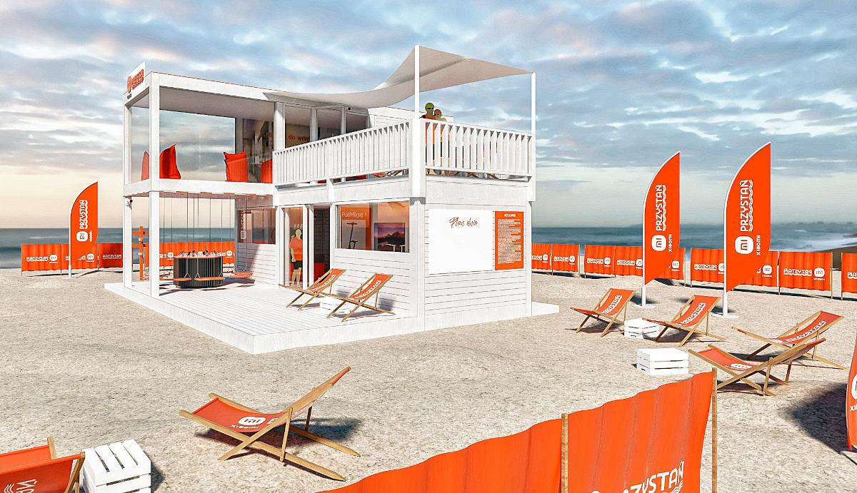Xiaomi telah menyiapkan area hiburan seluler di tepi pantai Polandia